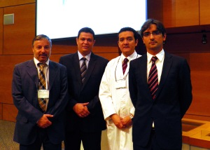 Dr. Santolaya, Dr. Sales dos Santos, Dr.Berrios and Dr. Diego Gonzalez Rivas