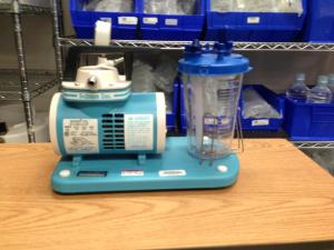 Portable suction unit used at Danville Regional Medical Center, Danville, Virginia.  Photo by Brian Compton