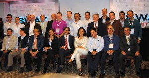 Thoracic surgeons at the 2013 S.W.A.T Summit in Bogota, Colombia. Drs. Gonzalez-Rivas and Dr. Paula Ugalde are center, front-row
