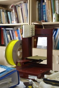 Dr. Yuksel experiments with a 3-D printer for chest wall repairs