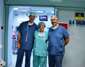 with Dr. Elbeyli (left) and Dr. Isik