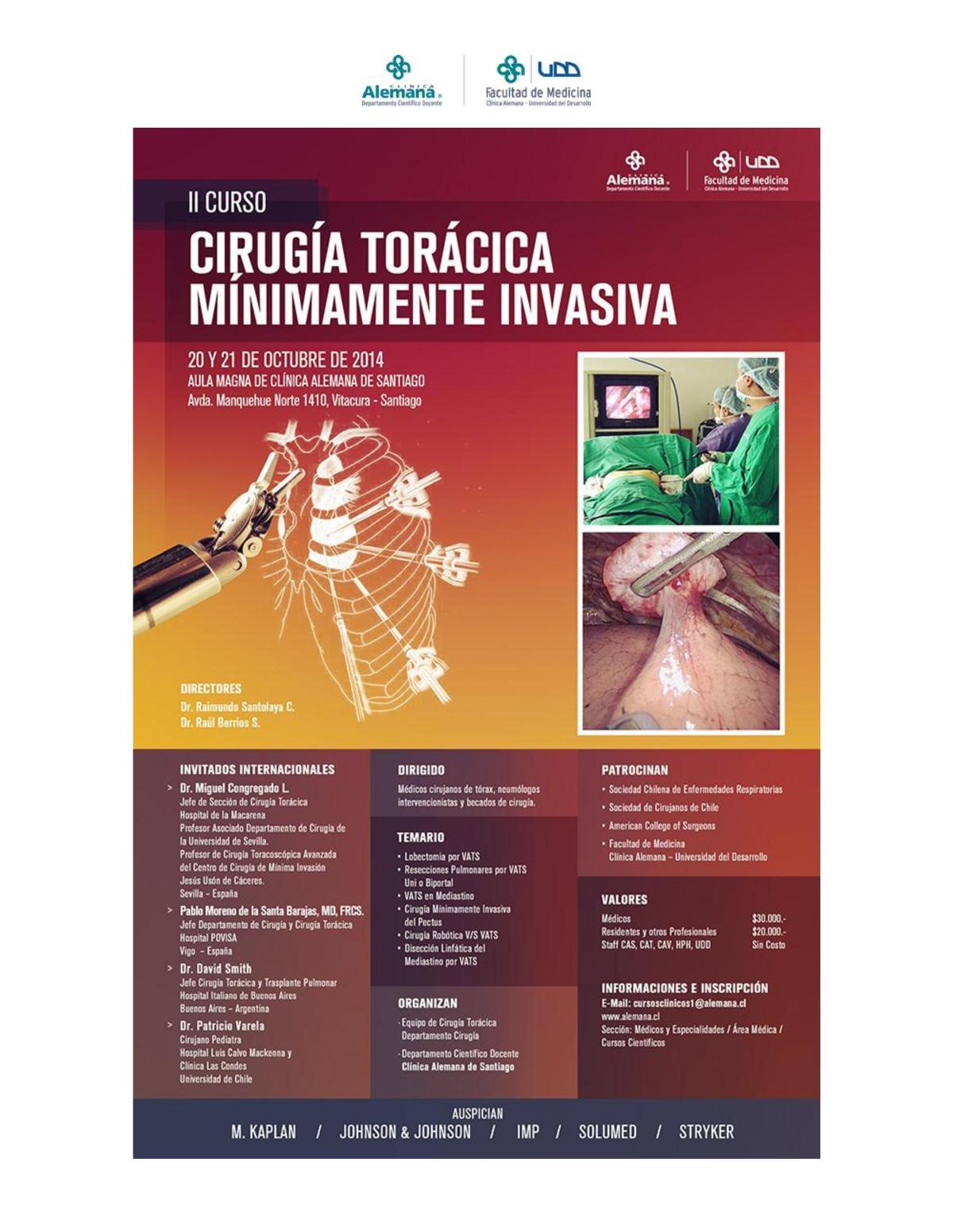 Upcoming course on Minimally Invasive thoracoscopy – LatinAmerica