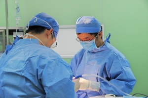 Dr. Wang in the operating room
