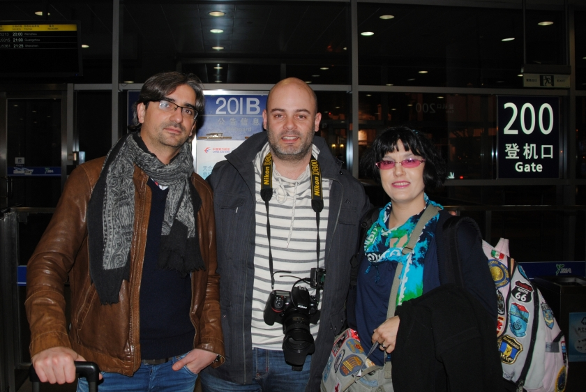 with Dr. Gonzalez Rivas and Spanish filmmaker, Danilo Lopez