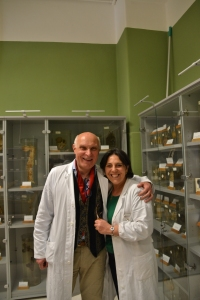 Dr. Majorino, thoracic surgeon (who has worked at Monaldi Hospital for over 30 years and the head of the pathology department - in the museum of pathology