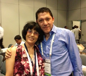 at ALAT with Bolivian surgeon, Dr. Cristian Anuz