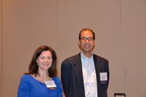 Dr. Shanda Blackmon with Dr. Thomas D'Amico.